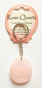 Crystal Energy - Rose Quartz - Love - Gemstone Keyring